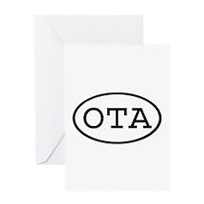 OTA Oval Greeting Card