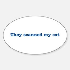 Cat Scanned Quote - Blue Impr Oval Decal