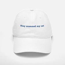 Cat Scanned Quote - Blue Impr Baseball Baseball Cap