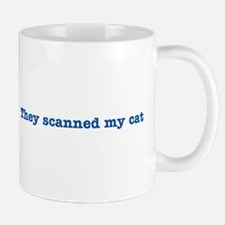 Cat Scanned Quote - Blue Impr Mug