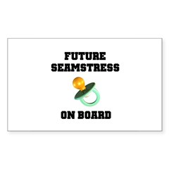 Maternity - Future Seamstress Rectangle Sticker 1