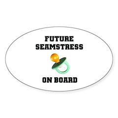 Maternity - Future Seamstress Oval Sticker (10 pk)
