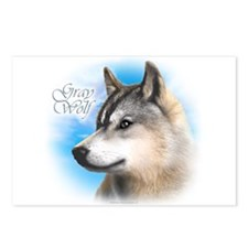 Cute Gray wolf Postcards (Package of 8)