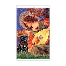 Mandolin Angel / Pug (blk) Rectangle Decal
