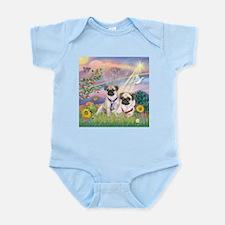 Cloud Angel - 2 Pugs Infant Bodysuit