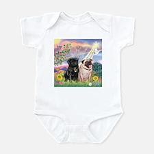 Cloud Angel & 2 Pugs Infant Bodysuit