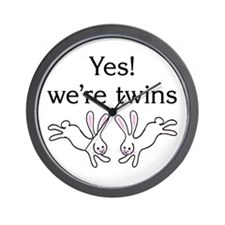 Yes! We're twins Wall Clock