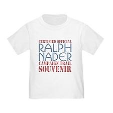 Official Nader Campaign Souvenir T