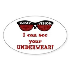 Retro X-Ray Spex Oval Decal