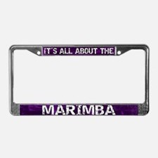 All About Marimba License Plate Frame Purple