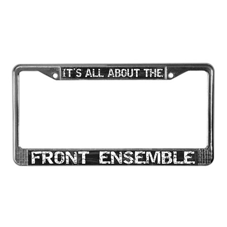 All About Front Ensemble License Plate Frame Grey