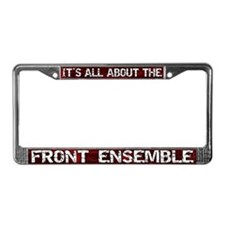 All About Front Ensemble License Plate Frame Red