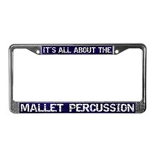 All Abt Mallet Percussion License Plate Frame Blue