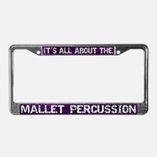 All Abt Mallet Percussion License Plate Frame Purp