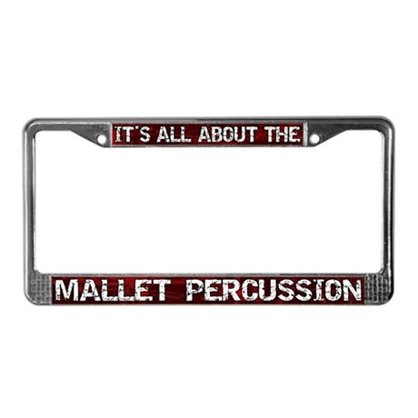 All Abt Mallet Percussion License Plate Frame Red
