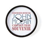 Official McCain Campaign Souvenir Wall Clock