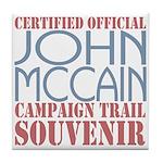 Official McCain Campaign Souvenir Tile Coaster