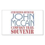 Official McCain Campaign Souvenir Sticker (Rectang