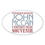 Official McCain Campaign Souvenir Oval Sticker
