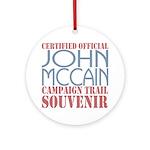 Official McCain Campaign Souvenir Ornament (Round)