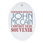 Official McCain Campaign Souvenir Oval Ornament