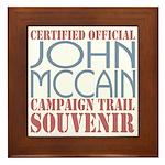 Official McCain Campaign Souvenir Framed Tile