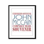 Official McCain Campaign Souvenir Framed Panel Pri