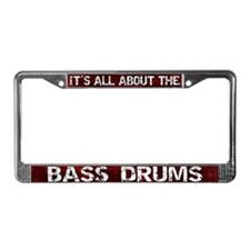 All About Bass Drum License Plate Frame Red