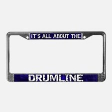 All About Drumline License Plate Frame Blue