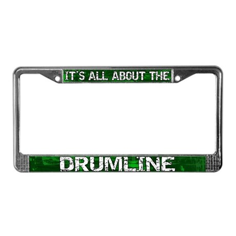 All About Drumline License Plate Frame Green