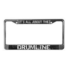 All About Drumline License Plate Frame Grey