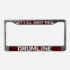 All About Drumline License Plate Frame Red