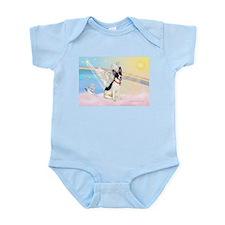 Clouds / Rat Terrier Infant Bodysuit