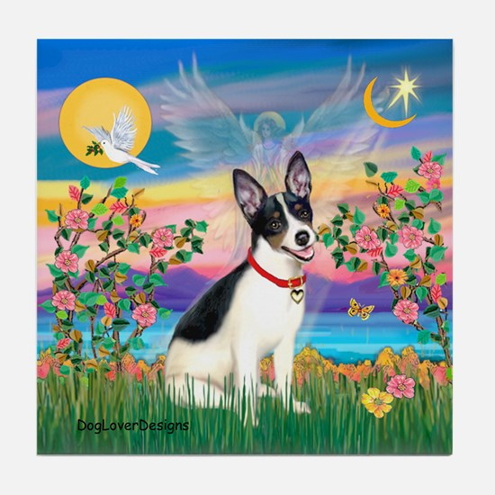 Guardian /Rat Terrier Tile Coaster