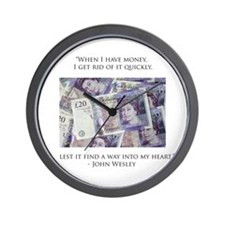 How John Wesley handled money Wall Clock