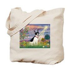 Cloud Angel & Rat Terrier Tote Bag