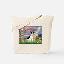 Cloud Angel & Rat Terrier Tote Bag
