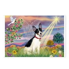 Cloud Angel & Rat Terrier Postcards (Package of 8)
