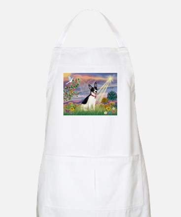 Cloud Angel & Rat Terrier BBQ Apron