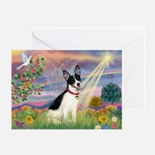 Cloud Angel & Rat Terrier Greeting Card