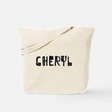 Cheryl Faded (Black) Tote Bag