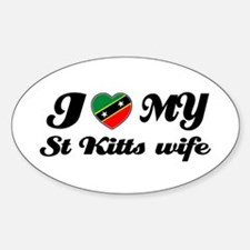I love my St Kitts Wife Oval Decal