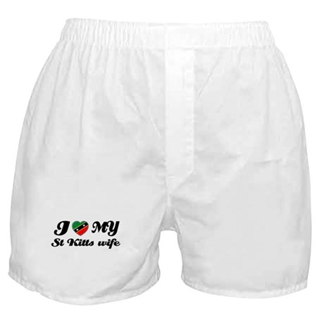 I love my St Kitts Wife Boxer Shorts