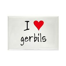 I LOVE Gerbils Rectangle Magnet