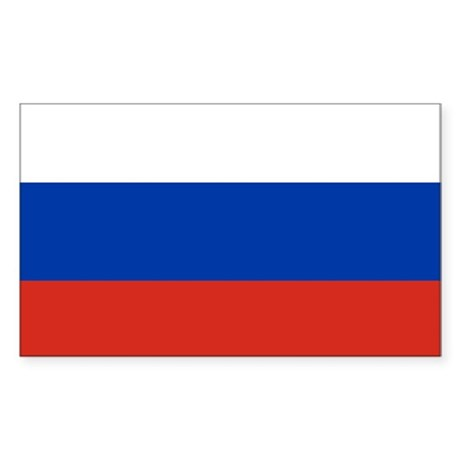 Flag of Russia Sticker (Rectangle)