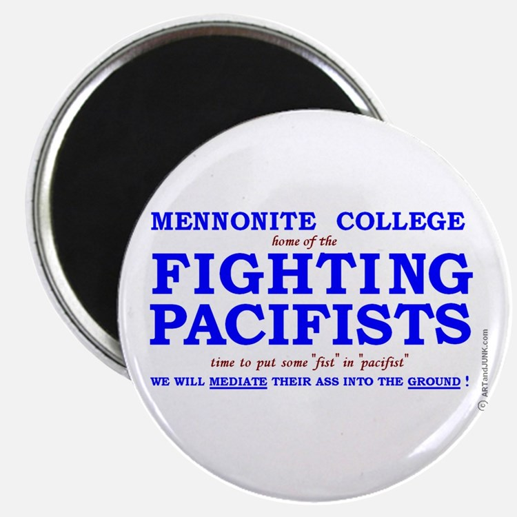 Mennonite College FIGHTING PACIFISTS fridge magnet