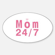 Mom 24/7 Oval Decal