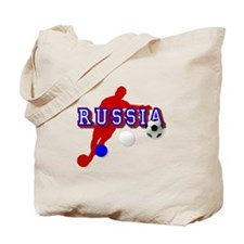 Russian Soccer Player Tote Bag