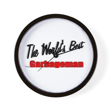 """The World's Best Garbageman"" Wall Clock"