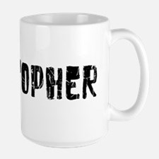 Christopher Faded (Black) Large Mug